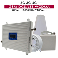2G 3G 4G Tri Band Booster GSM 900 DCS/LTE 1800 UMTS WCDMA 2100 MHz Cell Phone Signal Repeater 900 1800 2100 Cellular Amplifier