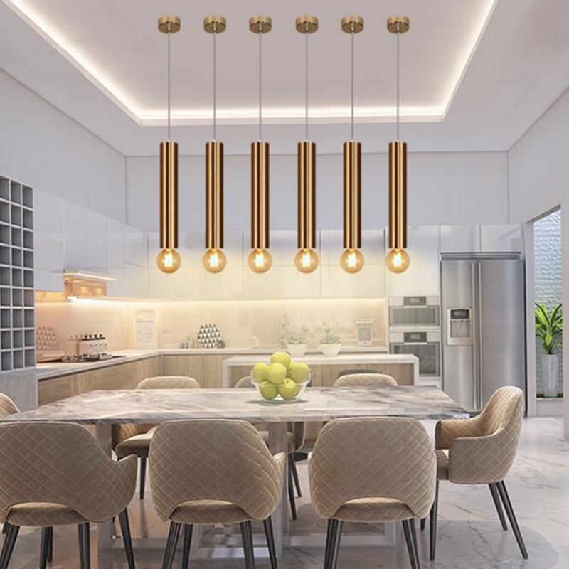 Modern Home Decoration Led Dining Room Pendant Light Art Cylindrical Aisle Down Corridor Fixtures Free Shipping In Lights From