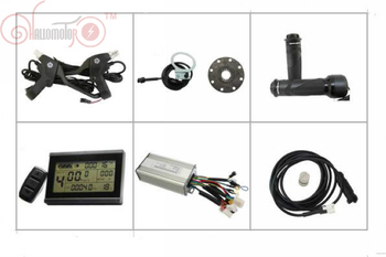 ConhisMotor 36V 48V 500W 750W Ebike Controller With Regenerative and Reverse Function LCD Display PAS Throttle image