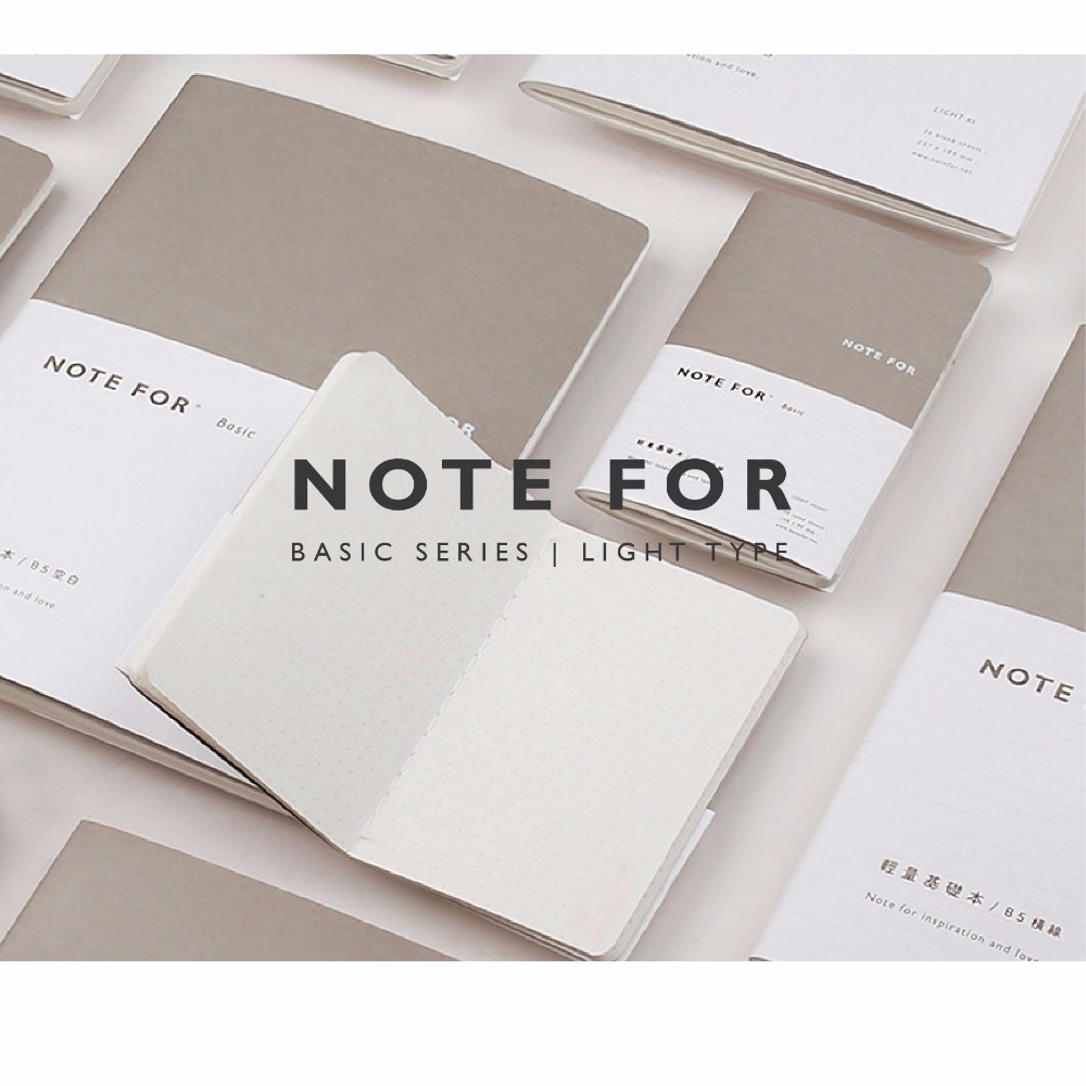 Basic Note Creative Brief Notebook Pocket/A5/B5 Lined/Grid/Blank/Dots Paper 36 Sheets School Office Supplies 2018 Gift