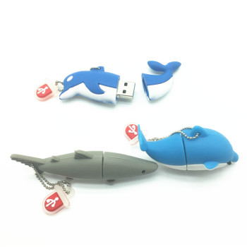 Creative Pen Drive Cartoon Animal Shark Fish USB Flash Drive 4GB 8GB 16GB 32GB 64GB Dolphins USB Flash Memory Stick Pendrive