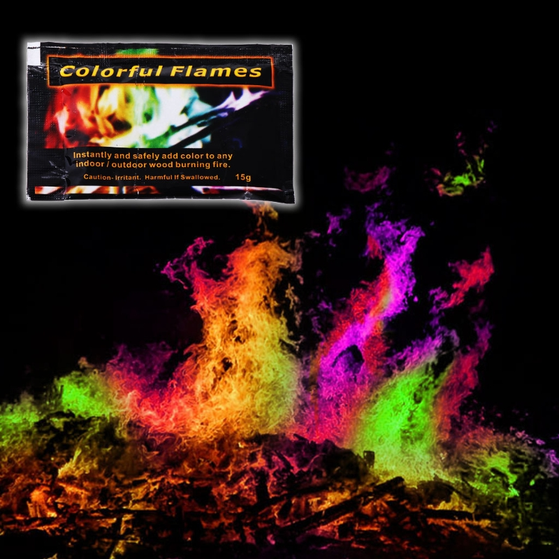 Mystical Fire Powder Magic Trick Coloured Flames Bonfire Fireplace Pit Patio Toy