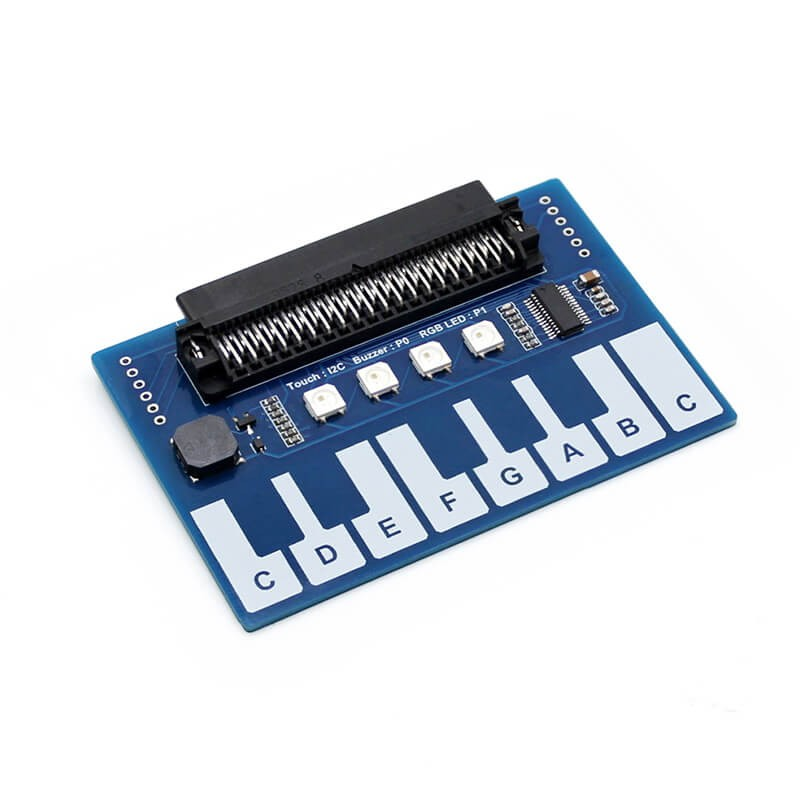 Elecrow Mini Piano Module With I2c Interface For Micro Bit 13 Touch Keys To Play Music With 4x Rgb Leds Diy Kit For Instrument Warm And Windproof Active Components