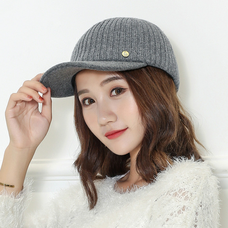 COKK Winter Baseball Cap Hats For Women Men Wool Knitted Cap Female Male Snapback Cold Winter Cap Thick Warm Bone 2017 New Hat knights of the new han edition wool equestrian hat baseball cap hats for men and women metal chain badge