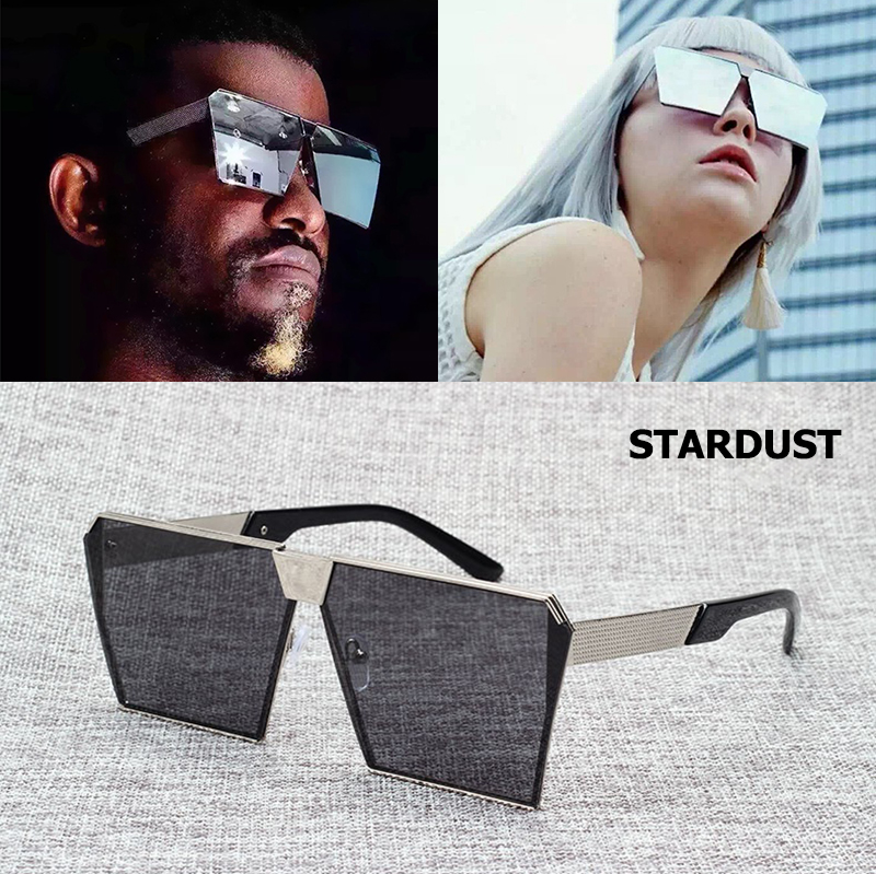 JackJad 2017 Cool Fesyen Bingkai Logam Square STARDUST Cermin mata hitam Lelaki Cool Style Design Brand Sun Glasses Oculos De Sol Lunettes
