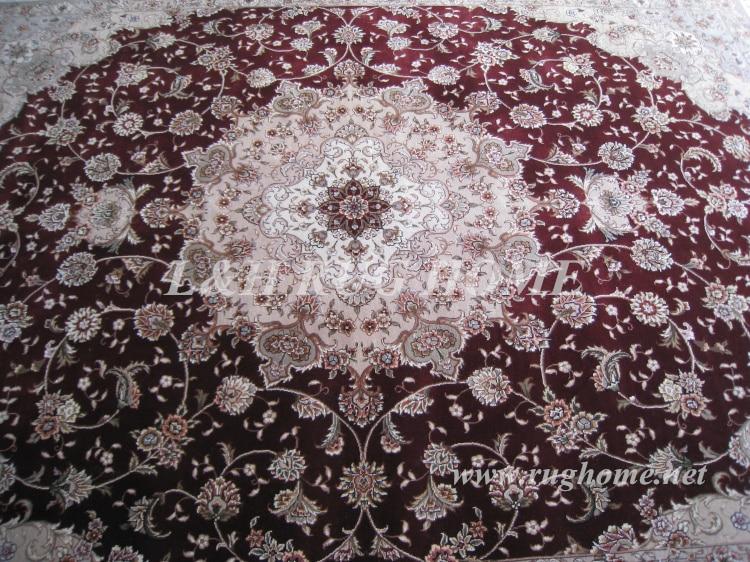 Brezplačna dostava 9'X12 '160 linijska ročno vezana volna in svila - Domači tekstil - Fotografija 4