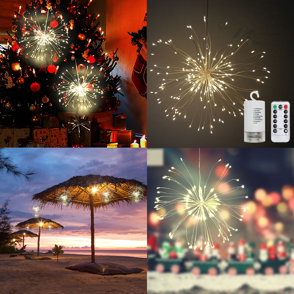 LED String Light Bouquet Shape Chandelier Fairy Light Dimmable Copper Wire Lights Garden Decoration Lighting for Wedding Party