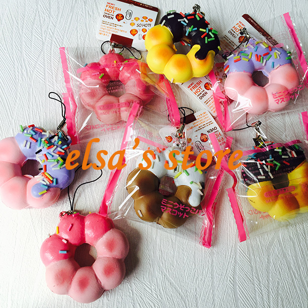 Squishy Tag List : squishies wholesale 20pcs squishy lot kawaii rare donut squishy with tags charm strap for mobile ...