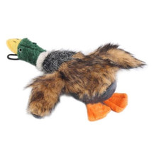 Mallard Squeaky Dog Toys for Aggressive Chewers Plush Stuffed Green Duck Toy Squeaker Sound Puppy Pet Supplies