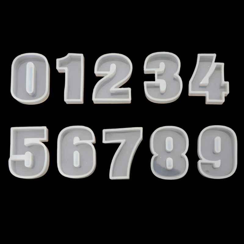 Takı kalıp A-J alfabe İngilizce harfler 0-9 sayı silikon kalıp Craft takı yapımı DIY temiz epoksi reçine kalıpları için