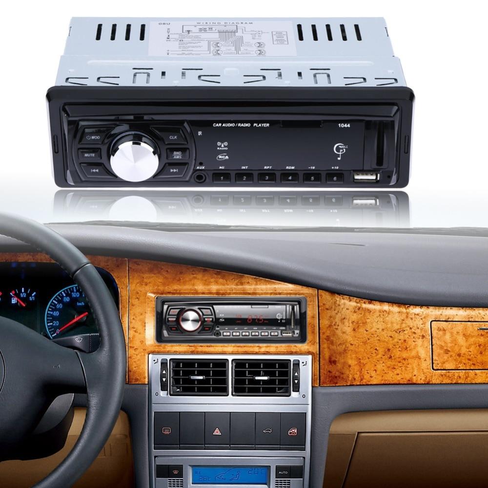 V2.0 12V Car Radio Stereo Audio MP3 Player In-dash Single 1 Din FM Receiver Aux Receiver MP3 Remote Control Radio Remote Control