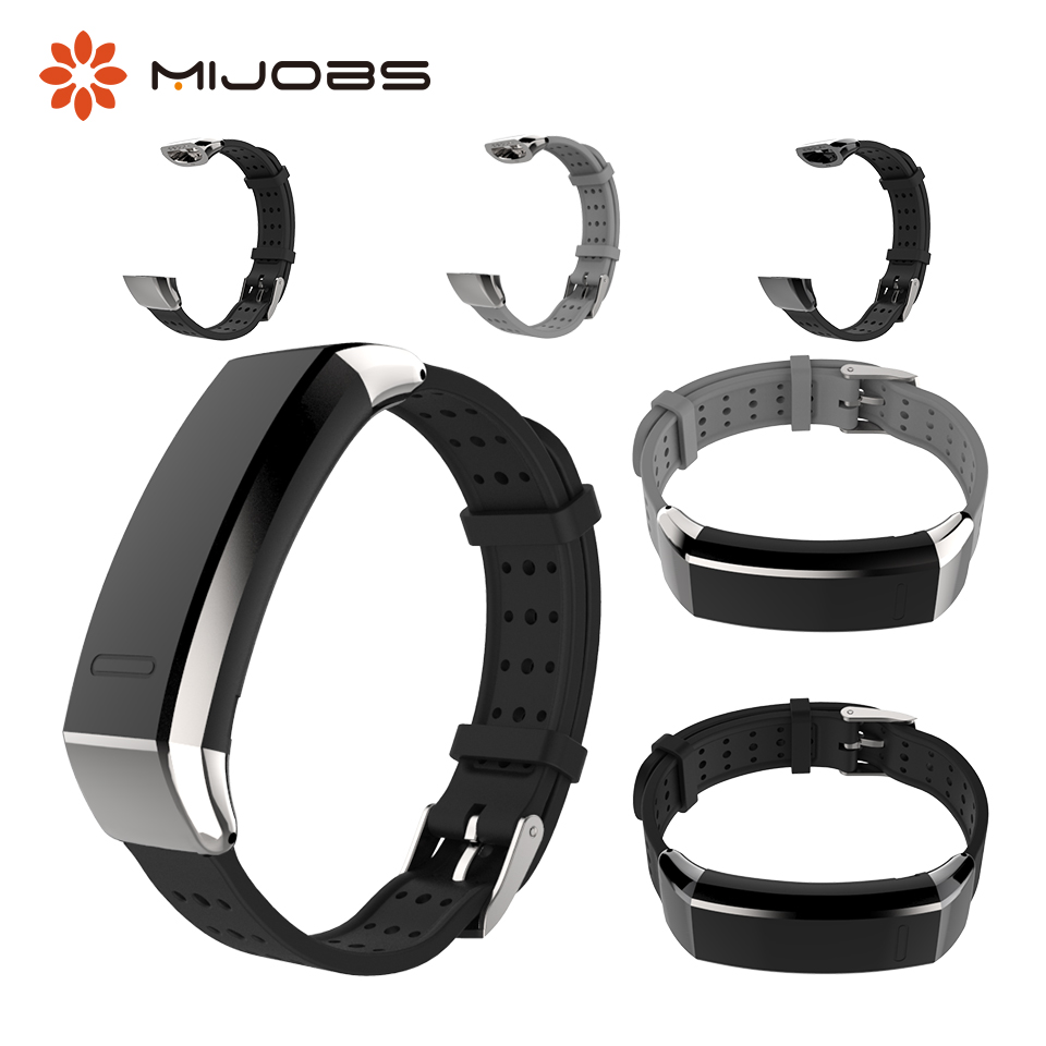 Mijobs Sports Silicone Wrist Strap For Huawei Band 2 Pro B19 B29 Smart Bracelet Wrsitband For Huawei Band 2 Pro Smart Watch Band
