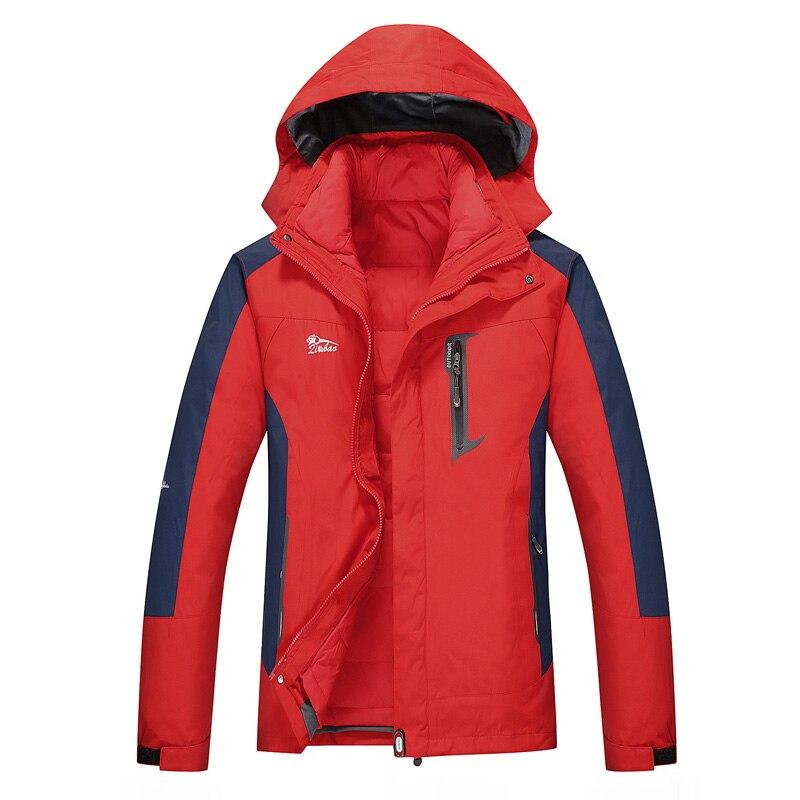 Veste de Ski d'hiver hommes veste de snowboard imperméable veste de neige coupe-vent deux pièces veste de Ski homme thermique grande taille marque