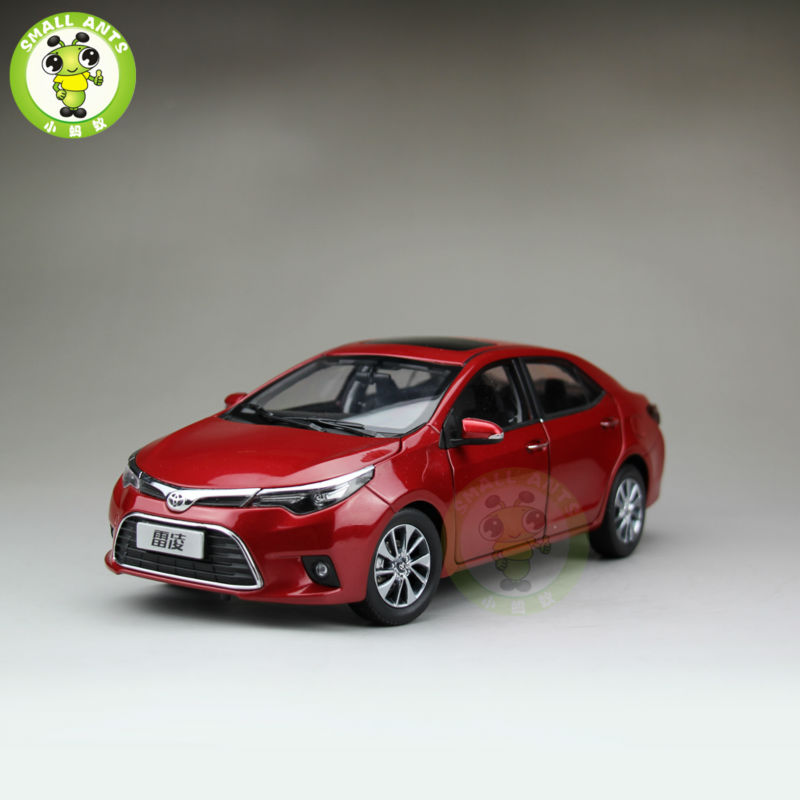 1 18 Toyota Levin Corolla 2014 Diecast Car Model Red Color