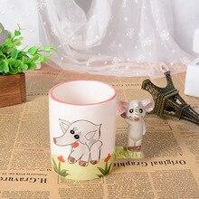 3D stereo creative hand painted cartoon animal mug office large ceramic cup children drinkware Christmas gift