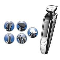 5 In 1 Waterproof Electric Hair Clipper Kemei Professional Hair Trimmer Shaver Beard For Men Waterproof