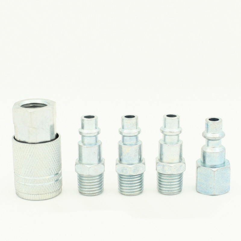1 Set Pneumatic tool fitting NPT 1/4 quick connector for Spray gun Air compressor Pneumatic fittings1 Set Pneumatic tool fitting NPT 1/4 quick connector for Spray gun Air compressor Pneumatic fittings