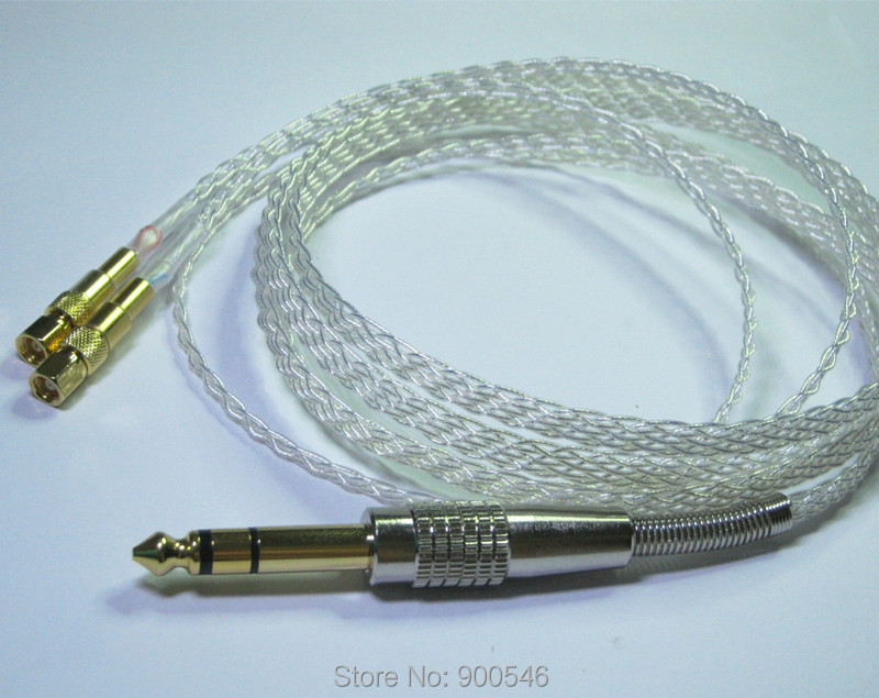 1.8m 6ft Handmade 8 core 4N OCC Flat braid Silver plated Headphone Upgrade Cable For HIFIMAN HE-5 HE-6 HE-400 HE-500 hd650 hd600 hd580 hd525 headphone upgrade cable occ silver plated