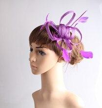Elegante de múltiples colores sinamay fascinator tocado headwear accesorio para el pelo de la boda eventos juego para todas las estaciones TMYQ108