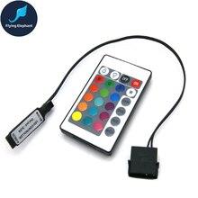 Цветная(RGB пульт дистанционного управления RF для чехол светодиодный освещение 3Pin 5V или 4Pin 12V RGB AURA SYNC Molex 4pin Питание