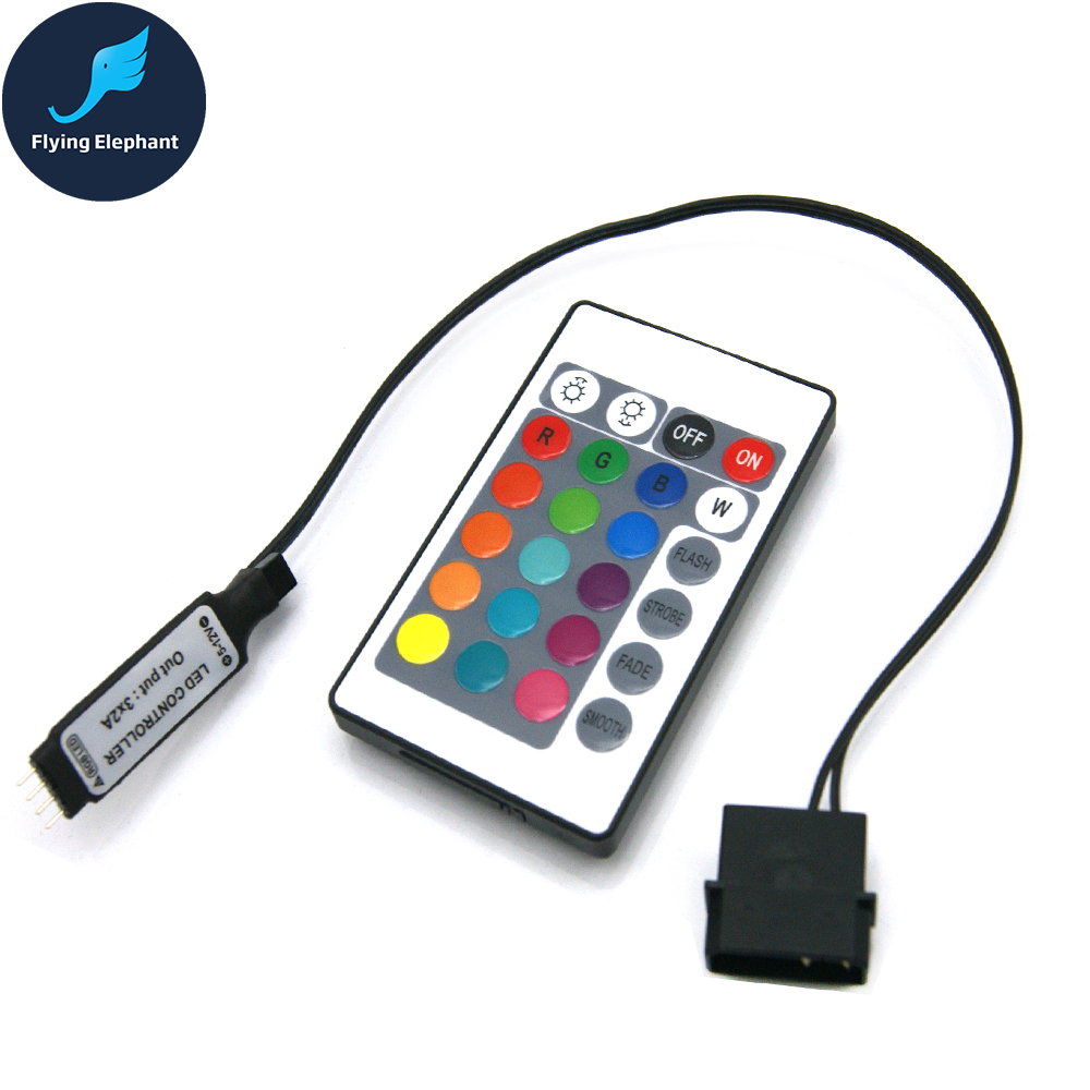 RGB Controller RF For Case LED Lighting 3Pin 5V Or 4Pin 12V RGB AURA SYNC Molex 4pin Power Supply