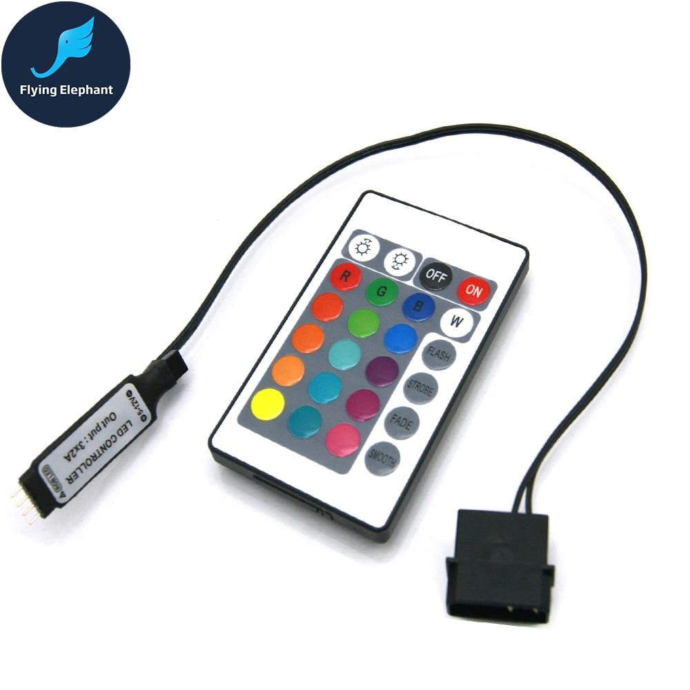 RGB Controller RF For Case LED Lighting 3Pin 5V Or 4Pin 12V RGB AURA SYNC Molex 4pin Power Supply