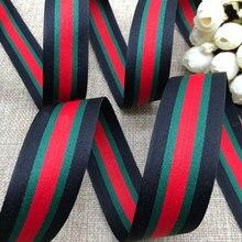 New 10mm,20mm 30mm (1 meter/lot) Black Red Green stripes Grosgrain Ribbon DIY Clothing accessories handmade sewing