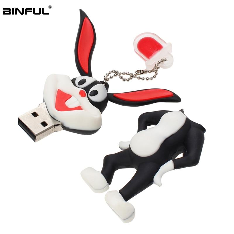 Image 5 - High Quality Usb Flash Drive 32GB Cartoon Animal Bugs Bunny Pen Drive 64GB 128GB U Disk Silicone Usb 2.0 16GB 8GB 4GB Pendrive-in USB Flash Drives from Computer & Office