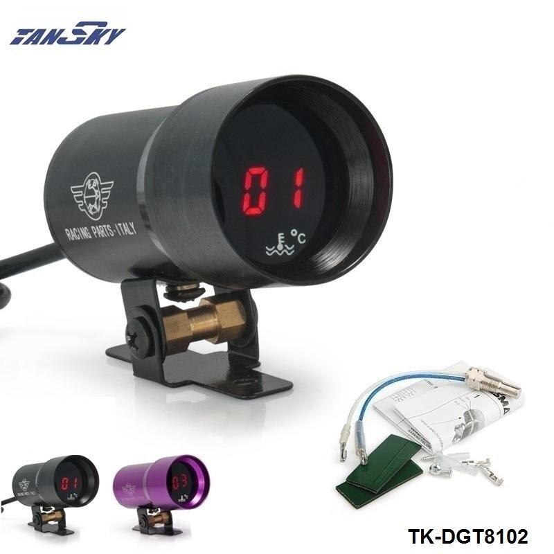 Prix pour TANSKY-37mm-Compact Numérique Micro Fumé Objectif Temp Eau Jauge de Température Noir, Violet Pour Jeep Wrangler TK-DGT8102