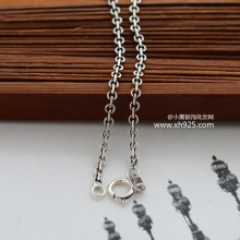 Black 925 sterling silver jewelry small radius of chain of Thai silver restoring ancient ways women necklace 51 cm long 925 sterling silver jewelry thai silver restoring ancient ways water droplets red pomegranate barren woman earrings