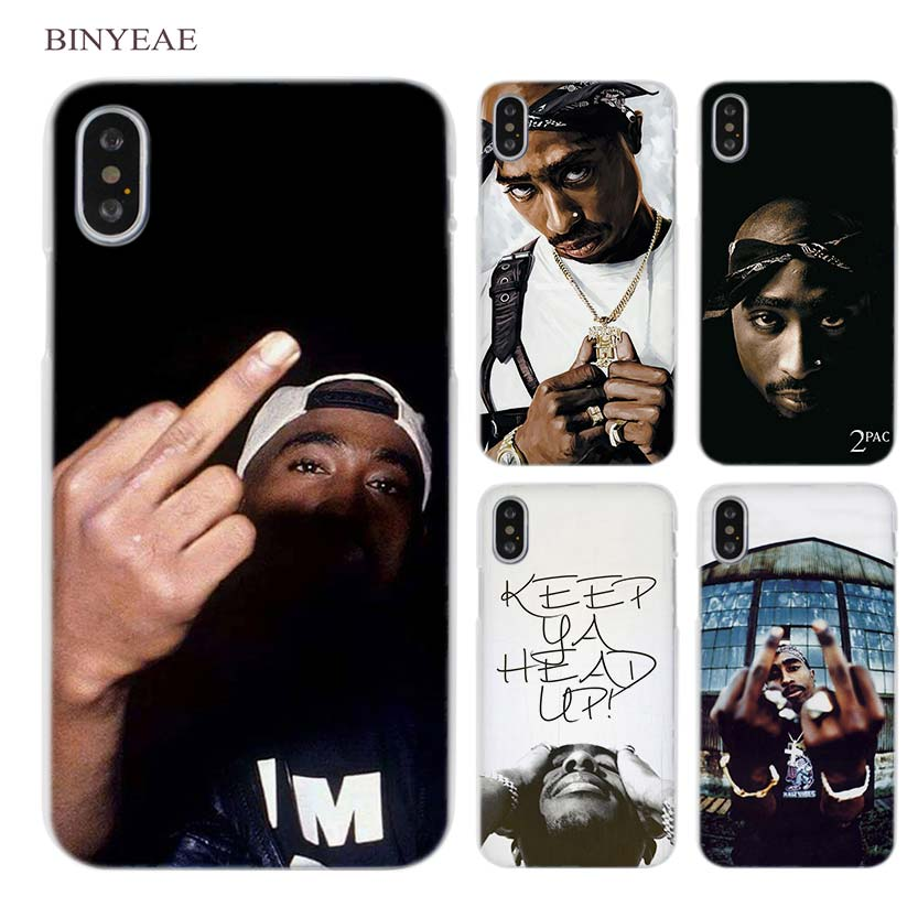 d8b746cad 2Pac Tupac Amaru Shakur Clear Cell Phone Case Cover For Apple Iphone X 6 6S  7 8 Plus 4 4S 5 5S SE 5C