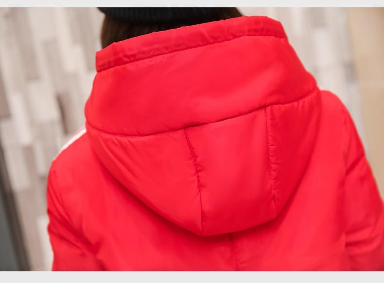 Hiver Femmes Lâche Coton Pain Parkas Black Grande À Service De Le Nouveau Rembourré red Manteau Capuche Taille Court Bas Vers green 5tqP8w