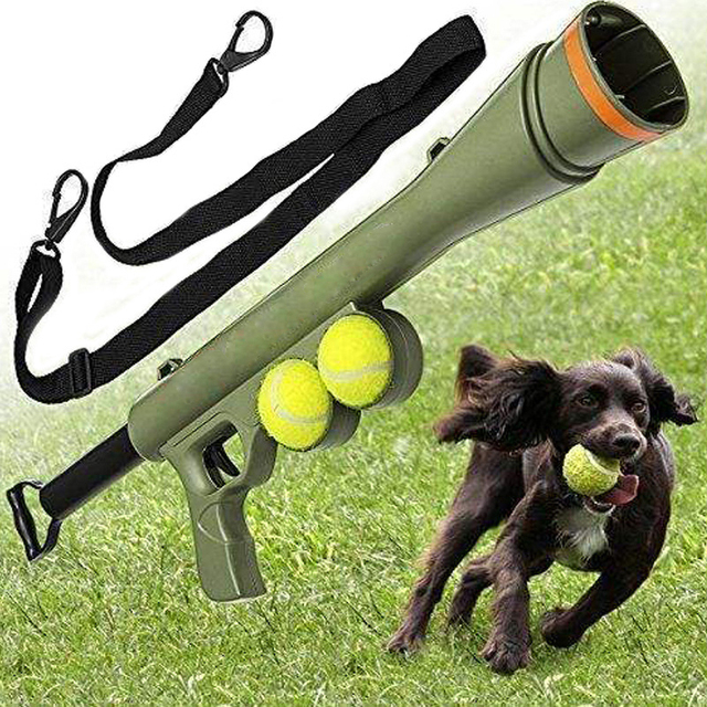 Pet Dog Funny Toy Ball Gun Toy Tennis Ball Launcher Thrower Products