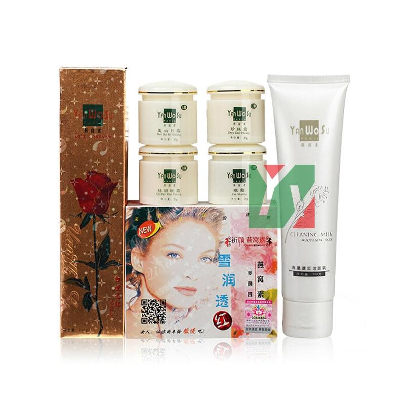 YanWoSu bailitouhong(4 in 1) whitening faciel anti freckle wrinkle eye cream 5pcs/set 100% original good quality