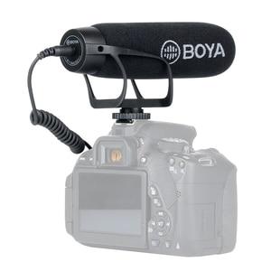 Image 2 - BOYA BY BM2021 카디오이드 DSLR 용 카메라 마이크 3.5MM TRS TRRS 케이블 어댑터가있는 Nikon Canon 캠코더 전화 마이크