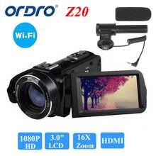 "ORDRO HDV-Z20 WIFI 1080P Full HD Digital Video Digital camera Camcorder 24MP 16X Zoom Recoding three.zero"" LCD Display distant management"