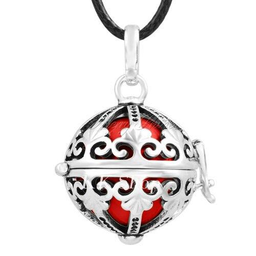 Беременность подарок для ребенка из черненого Медь в форме металлической птичьей клетки кулон ангел абонент Подвески 20 мм Музыкальный шар, гармония Bola кулон Цепочки и ожерелья H119 - Окраска металла: Red