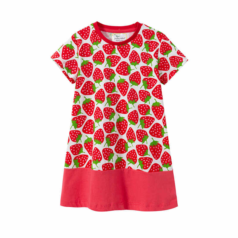 Girls Dress Baby Pincess Dresses Baby Girls Short Sleeve Cute Dress Strawberry Print Summer Kids Wear New Fashion