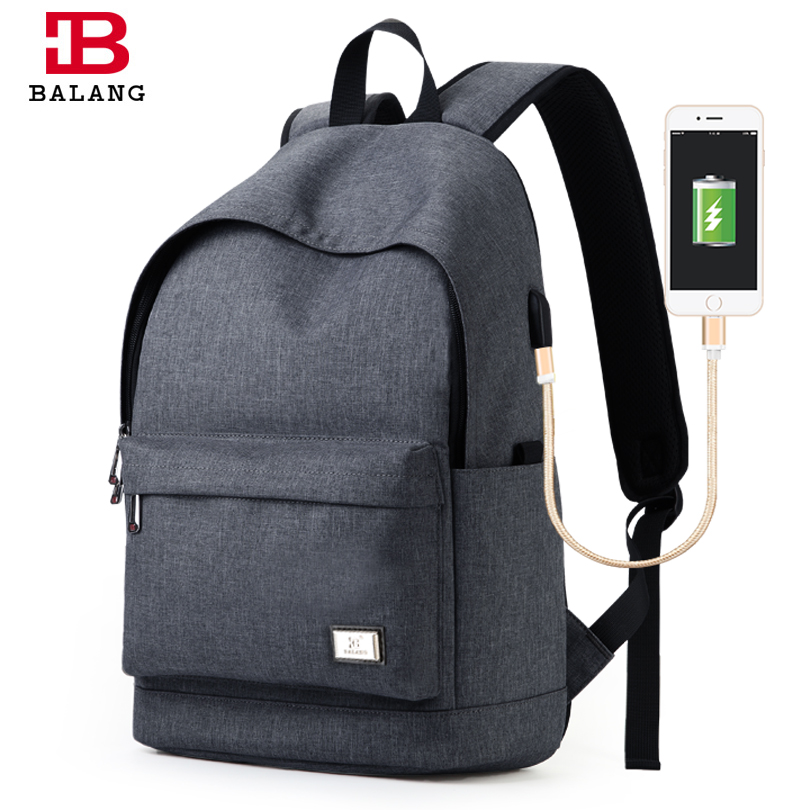 BALANG New Men's High Quality Laptop Backpack Unisex Waterproof Travel Backpack Fashion Student Bags for Teenagers Boys Girls  balang brand school backpack for teenagers boys girls large capacity travel backpack for men 15 6 inch laptop waterproof bags