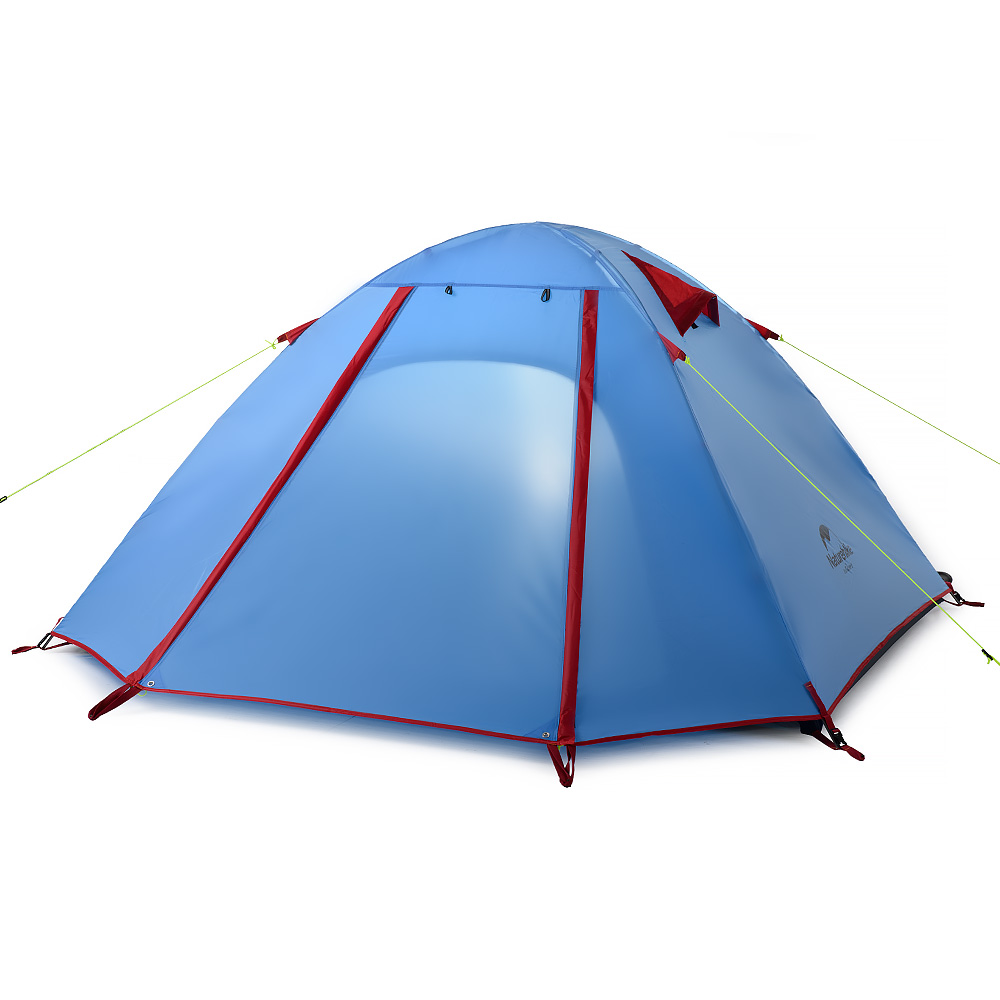 Naturehike-NH double waterproof outdoor camping tent, 3-4 people, three quarters of aluminum pole tent nh naturehike high quality 2persons classical professional ultra light aluminum pole camping tent with the bottom mat