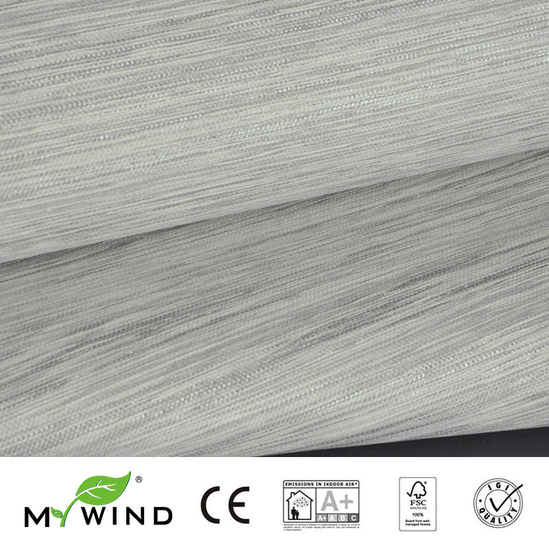 Design Wallpaper In Roll Luxury Natural Material papier peint Innocuity 2019 MY WIND grey Grasscloth Wallpapers 3D Paper Weave in Wallpapers from Home Improvement