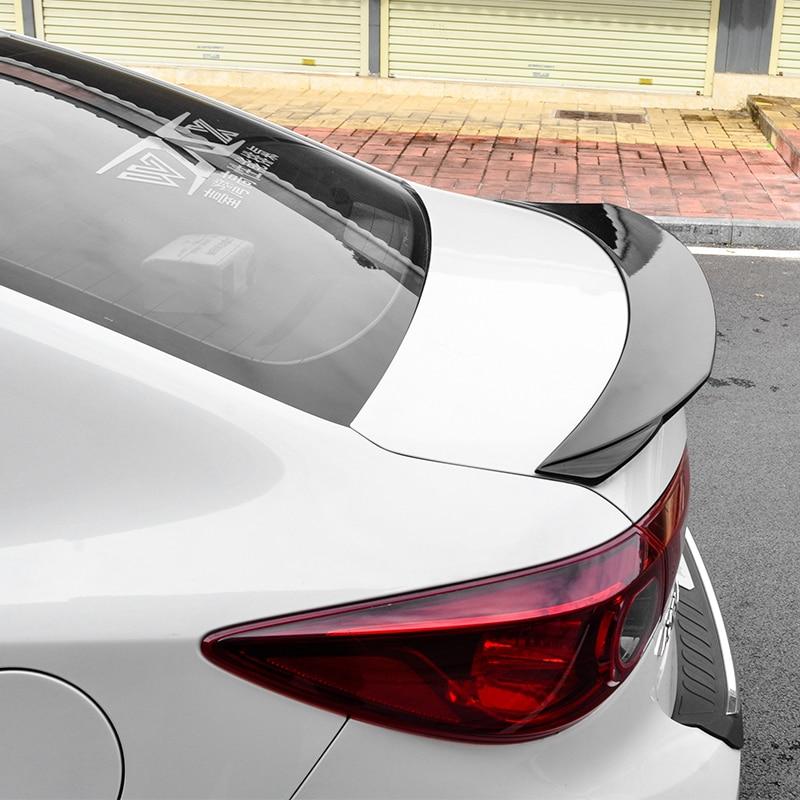Dla Mazda 6 Atenza akcesoria samochodowe 2014 2015 2016 2017 Auto tylne skrzydło dekoracji ABS z tworzywa sztucznego spojler bagażnika z tyłu samochodu