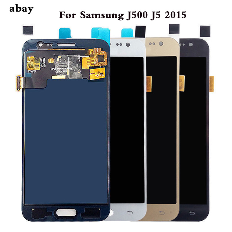 5 zoll Für <font><b>Samsung</b></font> GALAXY J5 J500 J500F J500FN J500M <font><b>J500H</b></font> 2015 <font><b>LCD</b></font> Display Touchscreen Digitizer Montage Einstellen Helligkeit image