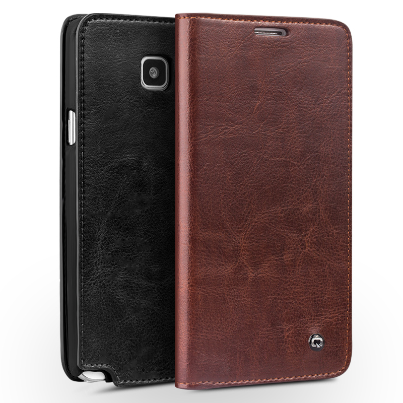 new concept 5990c 64df2 US $27.88 |2015 QIALINO Note 5 Case New Flip Genuine Leather Case for  Samsung Galaxy Note 5 Luxury Wallet Phone Cover for Samsung Note 5 on ...