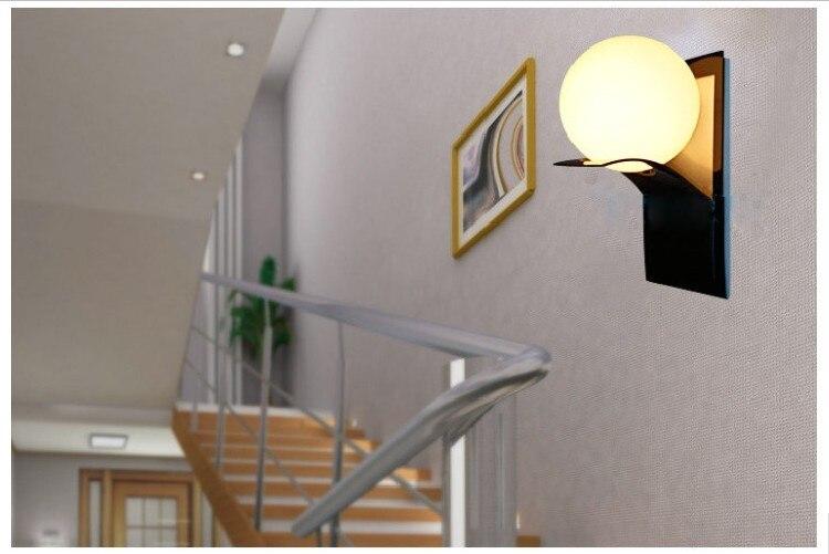 Modern Globe Metal Bathroom Led Wall Light Lamp Home Lighting Wall Sconce Free Shipping цена