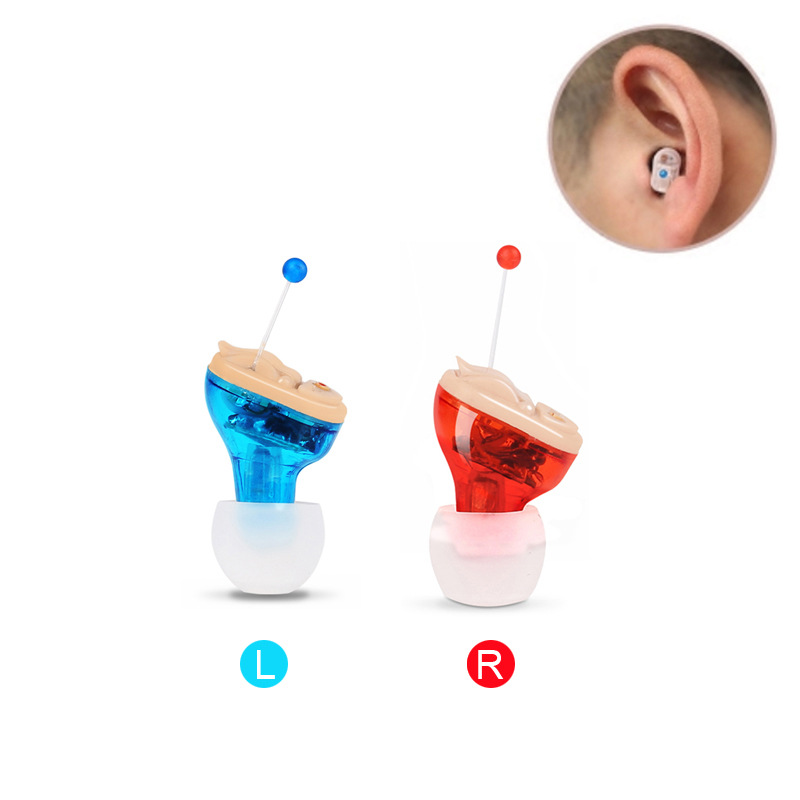 ZHONGDE Recharge Inner Ear Invisible Hearing Aid Adjustable Wireless Mini CIC Hearing Aids Left Right Ear Best Sound Amplifier e35 newest rechargeable hearing aid auidphones microphone amplifier to profound deaf hearing aids left right ear dropshippin