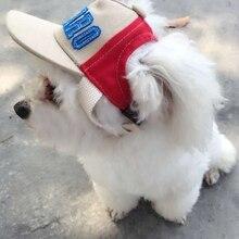 Летние для домашних животных собак бейсбольная шляпа Алфавит Кепка маленькая собака на открытом воздухе парусиновая шляпа