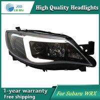 Автомобиль голове стиль лампы для Subaru WRX STI 2009 2012 Фары для автомобиля светодиодные фары DRL Объектив Двойной Луч би ксеноновые