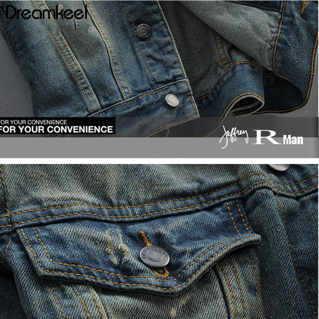 2019 Hot Sale Man Fashion Jacket Men's Jeans Jacket New Fashion Style Thin Hole Jacket Streetwear Jacket W
