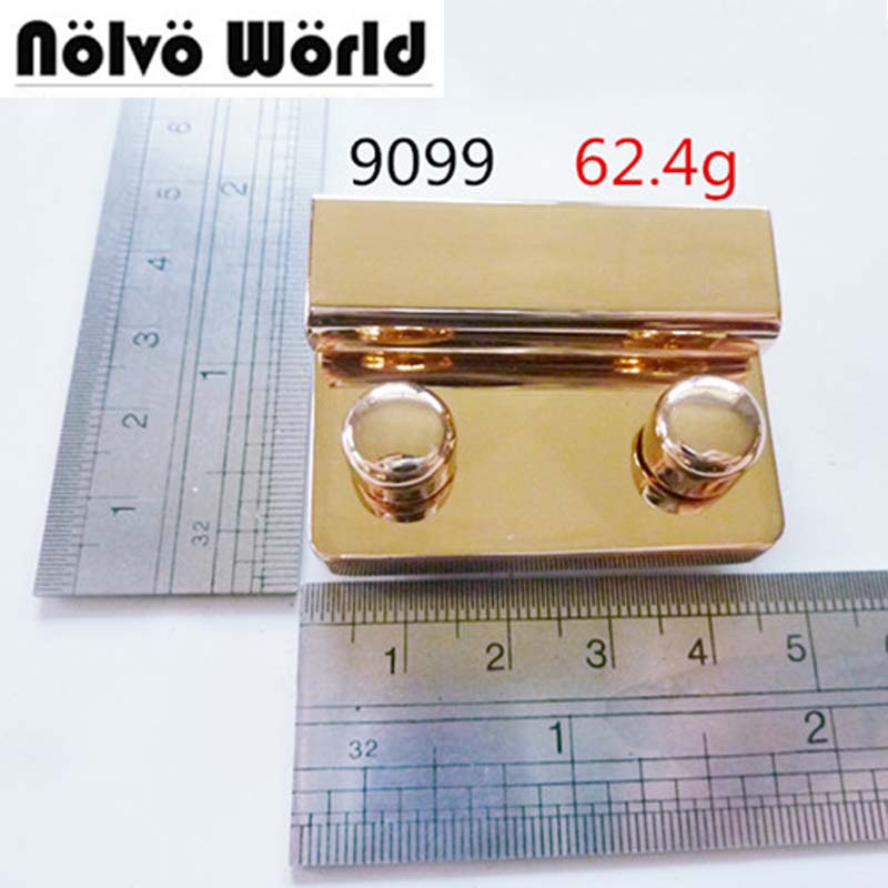 10pcs 50*45mm thumb lock handmade high quality gold color standard locks thumb lock handmadebags metal